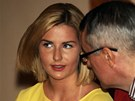 Dcera prezidenta Milo�e Zemana Kate�ina si nenechala uj�t sjezd Strany pr�v