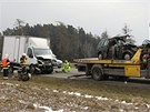 Dohromady až jedenáct vozů havarovalo na silnici vedoucí z Havlíčkova Brodu na
