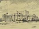 Plánovaná budova Opery na náměstí Republiky