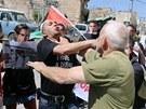 Palestinský protest proti Izraeli rozehnali vojáci.