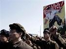 Severokorejci v Pchjongjangu podpořili komunistického vůdce Kim Čong-una.