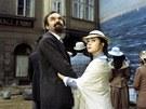 Zdeněk Svěrák a Libuše Šafránková ve filmu Jára Cimrman ležící, spící (1983)