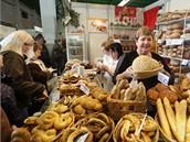 Oceněné potraviny mohli návštěvníci veletrhu ochutnávat.