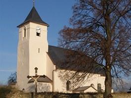 Kostel svat�ho Archand�la Michaela v Hrozov� na Osobla�sku.