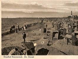 Jedna z pohlednic, které dědeček pětadvacetiletého studenta brněnské Masarykovy
