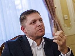 Robert Fico při rozhovoru pro slovenský deník SME.