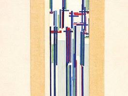 František Kupka - Élévation IV., série C II. - olej na plátně (1938),