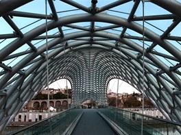 Nádherný most v Tbilisi patří k největším architektonickým klenotům města.