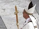Papež František při velikonoční bohoslužbě ve Vatikánu. (31. března 2013)