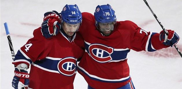 TAK SE RADUJE PLEKANEC. P.K. Subban (vpravo) z Montrealu se raduje z gólu do