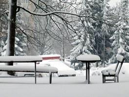 Sněhová nadílka v Ostravě. Velikonoční piknik se letos nekoná.