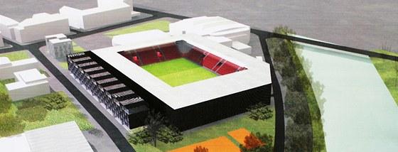 Vizualizace fotbalového letního stadionu je už hodně stará, potřebných 100
