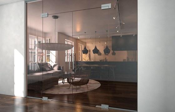 Stěna Eta dokonale oddělí dvě místnosti, ale ponechala prostoru vzdušnost.