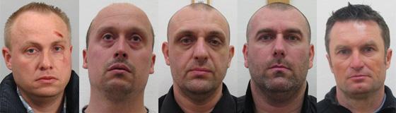 Fotografie obviněných v případu zavražděného českého podnikatele Petra Vlacha