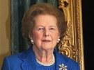 Listopad 2009. Margaret Thatcherov� u sv�ho portr�tu v Downing Street