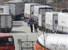 Zamítnutí vstupu platilo také pro řidiče nákladních vozidel