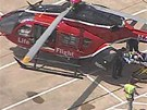 Čtyři těžce zraněné přepravil do nemocnice vrtulník-