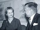 Margaret Thatcherová při rozhovoru s britským ministrem Johnem Boydem