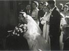Svatba Grünbergových v roce 1951.