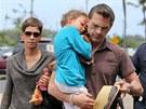 Halle Berry s Olivierem Martinezem a dcerou Nahlou