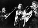 Marsyas, �esk� Krumlov 1973 (zleva Petr Kalandra, Zuzana Michnov�, Oskar Petr)