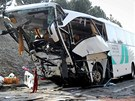 Nehoda autobusu u Rokycan.