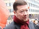 Na demonstraci Holešovské výzvy na Václavském náměstí dorazil i senátor Tomio