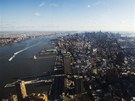 Výhled na jižní Manhattan ze 100. patra mrakodrapu One World Trade Center