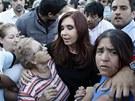 Argentinská prezidentka Cristina Fernandezová-Kirchnerová přijela do La Platy