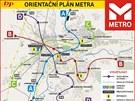 Plánek metra v Hradci Králové, jak si jej vymyslel Martin Dědek.