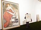 Z příprav na výstavu Ivan Lendl:Alfons Mucha v Obecním domě