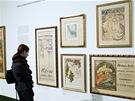 Mucha pracoval pro časopisy, vytvářel i plakáty k různým výstavám.