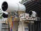 Laserová zbraň s označením Navy Laser Weapons System (LaWS)
