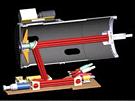 Nákres vnitřního uspořádání laserového děla systému LaWS