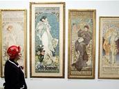 Z výstavy Ivan Lendl: Alfons Mucha