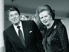 Britská premiérka Margaret Thatcherová s americkým prezidentem Ronaldem...