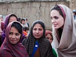 Angelina Jolie v Kábulu