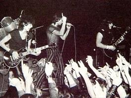 Z v�stavy Popmusea Tvrd� hudba v t�k� dob� (Arakain 1985)