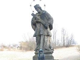 Socha sv. Jana Nepomuckého v Horních Domaslavicích