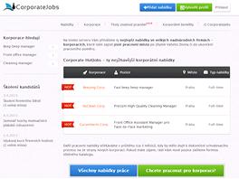 CorporateJobs.cz si utahuje s práce v nadnárodních firmách