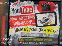 Údajný plakát vyhlašující YouTube soutěž o nejlepší videoklip.