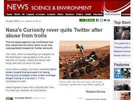 Falešný apríl BBC podle Metra.