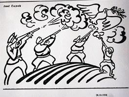 Protinacistick� karikatura Josefa �apka