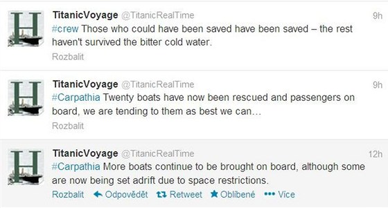 Titanic si sv� potopen� zopakoval na Twitteru.