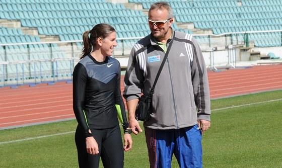Zuzana Hejnov� s tren�rem Daliborem Kupkou