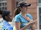 Šokovaní účastníci maratonu v Bostonu (15. dubna 2013)