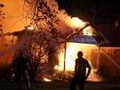 Požár v texaském městečku West (18. dubna 2013)