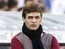 Trenér Barcelony Tito Vilanova při utkání na hřišti Zaragozy.