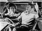 Margaret Thatcherov� a Ronald Reagan v Camp Davidu