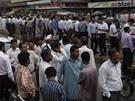 Pákistánští úředníci museli opustit své kanceláře kvůli otřesům (16. dubna 2013)